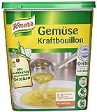 Knorr Gemüse Kraftbouillon Gemüsebrühe rein pflanzlich, mit Suppengrün, 1er Pack (1 x 1kg)