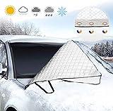 isimsus Windschutzscheibe Abdeckung, Winterabdeckung Auto Scheibenabdeckung Frostabdeckung Magnet...