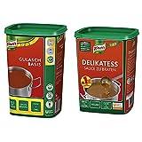 Knorr Gulasch Basis, 1er Pack (1 x 1 kg) & Delikatess Sauce zu Braten (pur als Bratensoße,...