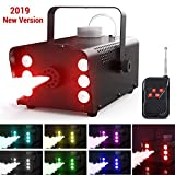 Nebelmaschine, Theefun 7 farbige 6 LEDs 500W Nebelmaschine Tragbare Rauchmaschine mit Kabellos...