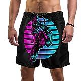 Color Motorrad-Herren-Shorts mit klassischer Passform, Ultra schnell trocknendes Futter Gr. M, Multi