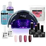 Mylee Professionelles Gel-Nagellack-LED-Lampenset, 4x MYGEL-Farben, Ober- und Unterlackierung, Mylee...