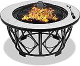 Centurion Supports Navaro Premium Multifunktionale Feuerstelle für Garten und Terrasse, rund,...