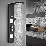 Duschpaneel Thermostat Duscharmatur aus Edelstahl, WOOHSE Duscharmaturen mit LCD Display 2...