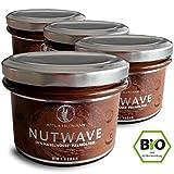 Nutwave 4er Pack  Premium Nuss-Nougat-Creme (bio, vegan), 4 x 220 g im Glas, 880 g