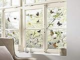 Komar Hochwertiger Window-Sticker Cheerful, Größe 31 x 31 cm (Breite x Höhe), 2 Bogen, 27 Teile,...