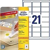 AVERY Zweckform L6023REV-25 Universal-Etiketten (63,5 x 38,1mm auf DIN A4, wieder rckstandsfrei...