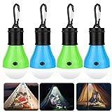 Sylanda Camping Lampe, 4 LED Camping Laterne, Camping Leuchten mit Karabiner, Tragbare Zelt Lampe,...