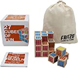 FRITZO Cube Premium Holzspiel Gesellschaftsspiel & Knobelspiel für Erwachsene, Jugendliche & Kinder...