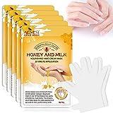 5 Paar Handmaske, Handhautreparatur-Erneuerungsmaske mit Infundiertem Kollagen, Hände...