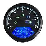 KKmoon Motorrad Drehzahlmesser 0-12000 U/min 6 Gang LCD Digital Tacho ElektronischeKilometerzähler...