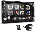 Drohneks Doppelter 2-DIN-6,2-Zoll-HD-Touchscreen-Autoradio-DVD-GPS-Navigations-Player mit...