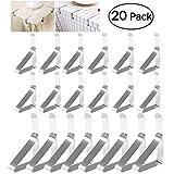 OUNONA 20 stcke Tischtuchklammern Edelstahl Klammern fr Tischdecken