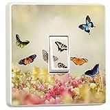 stika.co Schnen Blumen und Schmetterlinge Design Lichtschalter Bezug, Single Haut Aufkleber,...