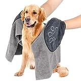 Hundehandtuch, Mikrofaser Hundebademantel Handtuch für große und mittlere Hunde, Katzen, Haustier...
