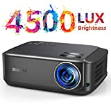 Heimkino-Beamer 50000 Stunden unterstützt 1080P Full HD, 4500 Lumen LCD LED Video Beamer für Film...