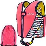 Limmys Premium Neopren Schwimmweste, ideale Schwimmhilfe für Mädchen, EXTRA Kordelzugtasche...