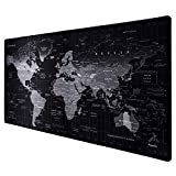 Anpollo XXL Speed Gaming Mauspad Weltkarte 900x400x3mm XXL Mousepad Tischunterlage Large Size...