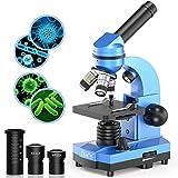 Mikroskop für Kinder Anfänger Jugendliche Studenten, 40X - 1000X Wissenschaftliches Mikroskop mit...