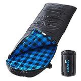 skandika Dundee Decken-Schlafsack, Luxus-Qualität, Baumwolle/Flanell Innenfutter, bis -20°C,...