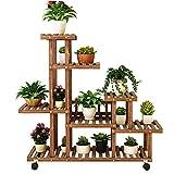 ZDYLM-Y Blumenregal aus Holz, 6-Tier Flower Rack Bonsai Display Ablagen mit Multi Regalen, für...