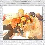 XWArtpic Klassische Cartoon Anime Naruto Glücklich Faminly Liebe Malerei Kinderzimmer Wohnkultur...