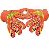 Torwarthandschuhe für Kinder und Jugendliche, mit geprägter rutschfester Latex-Handfläche und...