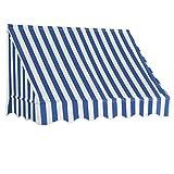Nishore - Balkonmarkise 150 x 120 cm, Metall Sonnenmarkise Sonnenschutz UV-resistent, Markise -...
