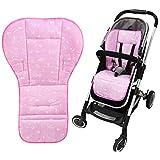 NEWSTYLE Baby Sitzauflage,Weich und Reversible Baby reine Baumwolle Kinderwagen Autositz Liner Pram...