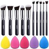 Amazon Brand – Eono Make-up Pinsel Set Premium Synthetic Kabuki Foundation Face Powder Blush...