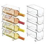 mDesign 8er-Set modernes Weinflaschenregal – stapelbares Flaschenregal für Wasserflaschen und...