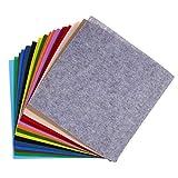 Toyvian 40 Stücke Vlies Blatt DIY Handwerk Stoff für Patchwork Nähen Handwerk Projekte 40 Farben
