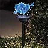 LIGHTJH Außen Solar Rasen Licht Garten Beleuchtung Intelligente Lichtsteuerung, IP65 Wasserdicht,...