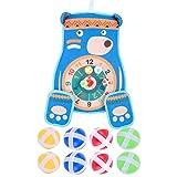 D/L Kids Game Dart Board Set, Bear Dart Board mit 8 Bällen und 1 Haken, bestes Spielzeuggeschenk...