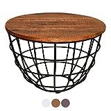 ANTARRIS Couchtisch mit Holz-Platte sägerau, stylisch Design Wohnzimmer-Tisch Lexington rund ø...