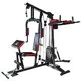 TrainHard® Kraftstation Multistation Fitnessstation Home Gym 65 kg Gewichten inkl. Dipstation...