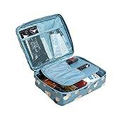 Romote 1Pc Blau Make Up Bag Frauen wasserdichte Kosmetik Make-up Tasche Reiseveranstalter für...