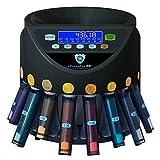 Automatischer Euro Münzzähler & -sortierer Geldzählmaschine SR1200LCD mit Abhülsung Geldzähler...
