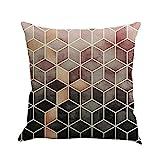INLLADDY Dekorativ Kissenbezug Geometrische Figur Theme 45 x 45cm Sofa Büro Dekor Kissenhülle aus...