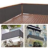 zimo Balkon Sichtschutz UV-Schutz blickdichte wetterbeständige Balkonbespannung Balkonverkleidung...