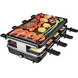 AONI Elektrischer Raclette grill Rauchfreier grill Elektrischer BBQ-Grill mit Antihaft-Grillfläche,...