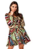 Mädchen On Film Karma Schal Print Satin Mini Skater Kleid Gr. 36, Multi