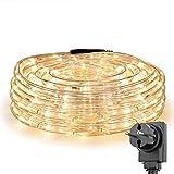 LE 12m LED Lichtschlauch, 240 LEDs Lichterschlauch IP65 Wasserfest, Lichterkette Strombetrieben mit...