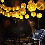 Geemoo Solar Lichterkette Lampions Außen, 6M 30 LED Laternen Lichterkette Warmweiß, 2 Modi...