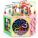 Brain Game Holz Aktivität Cube ndash;Entdecken Kinder Farm Animal Activity Center Early Learning...
