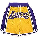 SPORTS Herren Jersey Lakers # 23James Basketball Hosen Herren Shorts Gelb Stickerei...
