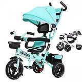 SONG Standardkinderwagen Klappbares Dreirad Handgekurbeltes Kinderfahrrad 1-6 Jahre Altes Baby Aus...