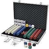 Pokerset Poker Set mit 1000 Chips Aluminium inkl. 3 x Kartendecks, Alu Pokerkoffer, 6 x Würfel, 1 x...