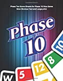 Phase 10 Score Sheets: V.6 Perfect 100 Phase Ten Score Sheets for Phase 10 Dice Game 4 Players |...