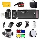 Godox AD200Pro TTL Flash Studio 2,4G 200W HSS 1 / 8000s + AD-S15 Blitzröhrenschutz + AD-S2...